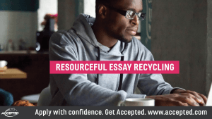 Resourceful Essay Recycling